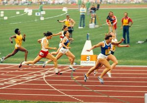 East Germany's Renate Stecher wins 200m gold at the 1972 Munich Olympics
