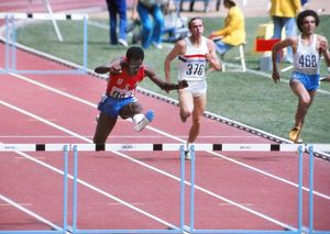 Ed Moses at the 1976 Montreal Olympics