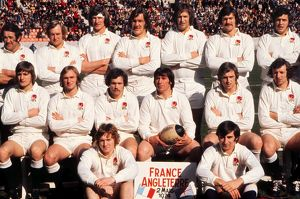 The England team that faced France in the 1974 Five Nations Championship