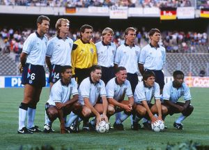 The England team that faced West Germany in the semi-final of Italia 90