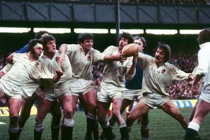 England's Bill Beaumont, Fran Cotton, Nigel Horton, Peter Dixon and Roger Uttley