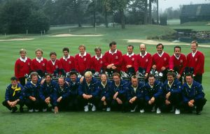 The European team and their caddies - 1993 Ryder Cup