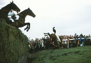 A faller at Bechers Brook - Grand National 1976