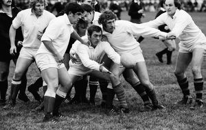 The famous Pontypool Front Row play for Major Stanley's XV in 1975