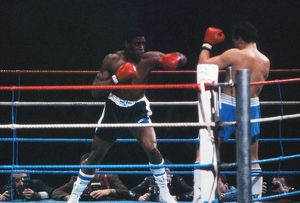 Frank Bruno takes on Lucien Rodriguez in 1985