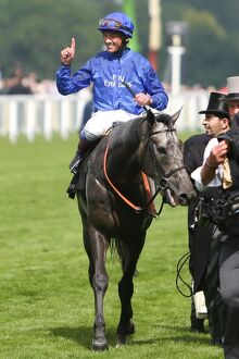 Frankie Dettori celebrates victory in the 2012 Royal Ascot Gold Cup