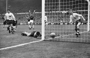 Geoff Hurst scores for West Ham - 1964 FA Cup Final