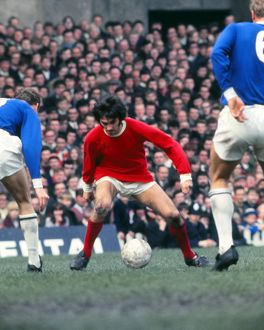 George Best in action against Leicester 1969