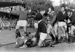 Gordon Brown scores for the Lions during the Third Test against South Africa in 1974