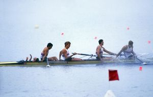 Great Britain win gold in the Coxed Fours - 1984 Los Angeles Olympics