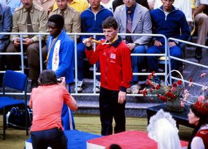 Great Britain's 1980 Moscow Olympics bronze medal winner Tony Willis