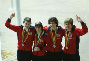 Great Britain's 4 x 100m relay silver medalists at the 1980 Moscow Olympics