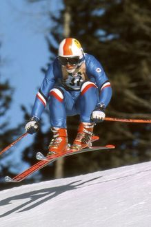 Great Britain's Alan Stewart at the 1976 Winter Olympics