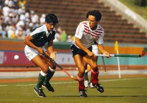 Great Britain's Jonathan Potter at the 1984 Los Angeles Olympics