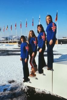 Great Britain's women's skiing team - 1972 Sapporo Winter Olympics