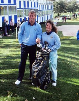 Howard Clark with his caddie Fanny Sunesson - 1989 Ryder Cup