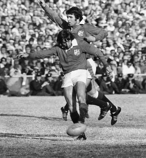 Ian McGeechan kicks aheads for the Lions in 1974