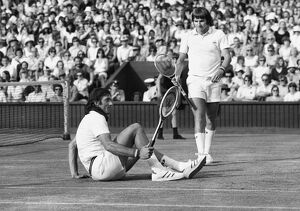 Ille Nastase and Jimmy Connors - 1975 Wimbledon Championships