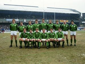 Ireland team that faced England in the 1986 Five Nations