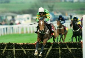 Istabraq wins the Champion hurdle during the 1998 Cheltenham Festival