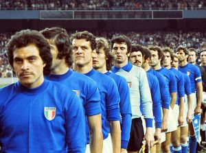 The Italian team line-up before facing England in 1976