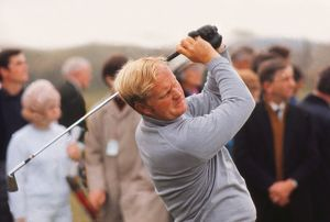 Jack Nickluas during the 1969 Ryder Cup