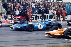 Jackie Stewart on the grid in his Matra-Ford at the start of the 1969 British Grand Prix