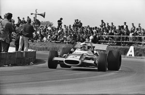 Jackie Stewart on his way to victory at 1969 British Grand Prix.