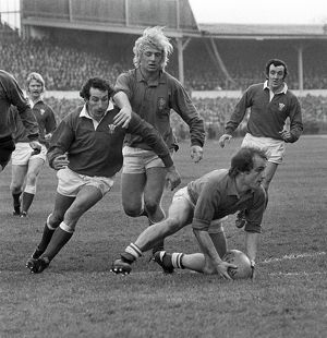 Jacques Fouroux, Jean-Pierre Rives, Gareth Edwards and Phil Bennett - 1976 Five Nations