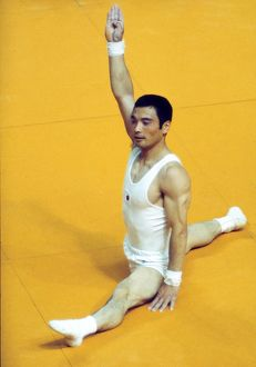 Japan's Mitsuo Tsukahara at the 1976 Montreal Olympics
