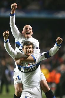 Javier Zanetti and Esteban Cambiasso - Inter Milan