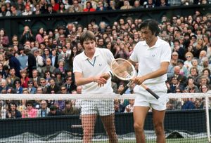 Jimmy Connors and Ille Nastase - 1972 Wimbledon Championships