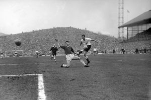 Jimmy Greaves shoots for Spurs in the 1962 FA Cup semi-final