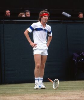 John McEnroe has a tantrum during the 1981 Wimbledon Men's Singles Final