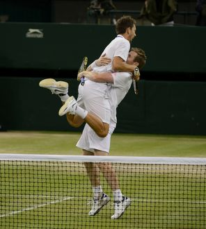 Jonathan Marray and Frederik Nielsen celebrate their victory - 2012 Wimbledon Men's