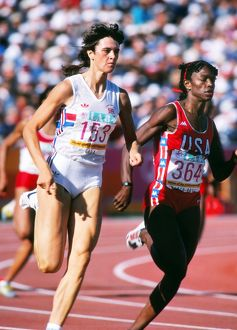 Kathy Cook and Valerie Brisco-Hooks - 1984 Los Angeles Olympics