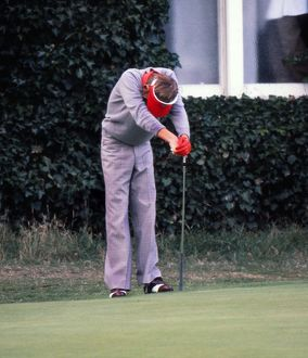 Ken Brown shows his despair after his missed putt loses him a match at the 1977 Ryder Cup