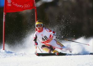 Lesley Beck - 1988 Calgary Winter Olympics - Women's Giant Slalom