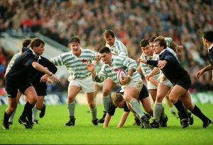 Liam Mooney on the charge for Cambridge - 1994 Varsity Match