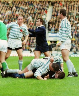 Liam Mooney and John Daniell clash off the ball - 1994 Varsity Match