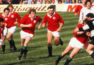 The Lions take on the Barbarians in the 1977 Silver Jubilee Match