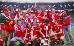 Liverpool's 1986 FA Cup winning team celebrate