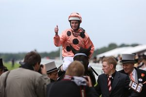 Luke Nolan on Black Caviar at Royal Ascot