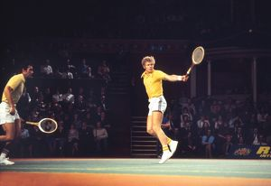 Mark Cox and Roger Taylor - 1975 Rothmans Tennis Tournament