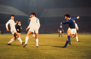 Mark Lambert shoots for Ipswich against Real Madrid