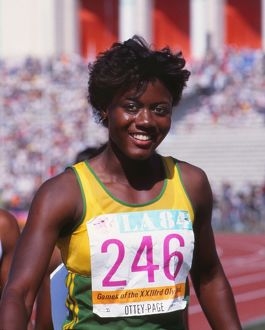Merlene Ottey at the 1984 Los Angeles Olympics
