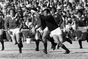 Mervyn Davies on the ball for the British Lions during the 4th Test against South