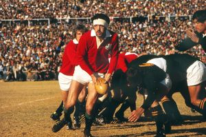 Mervyn Davies on the ball for the British Lions against South Africa in 1974