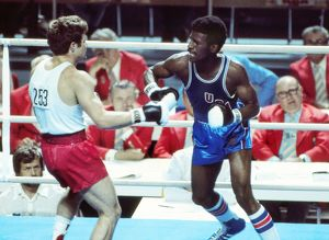 Michael Spinks at the 1976 Montreal Olympics