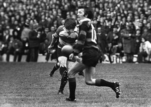 Mickie Booth kicks an injury-time drop-goal for Gloucester in the 1972 RFU Club Knock-Out